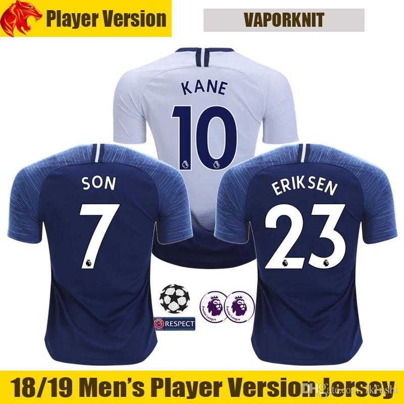 Compre 18 19 Versão Do Jogador Tottenham Camisa De Futebol TRIPPIER  Tottenham Hotspur KANE Camisa 2018 2019 ERIKSEN Camisa De Futebol LAMELA  Player Version ... 07d3c67df3846