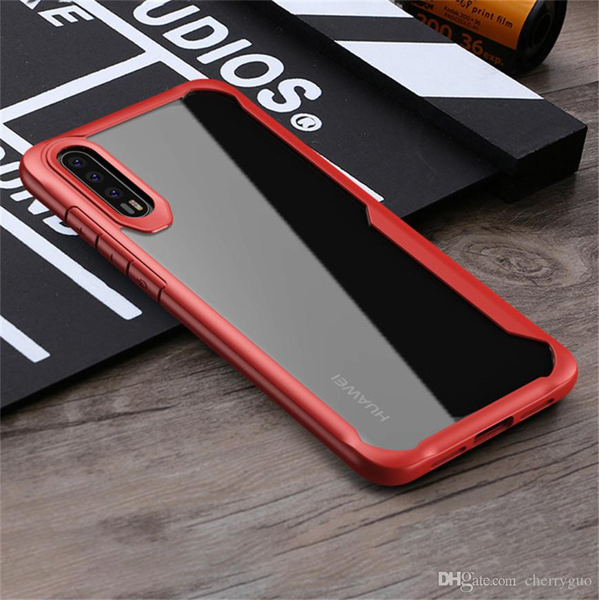 reputable site a5280 3524b For Huawei P20 P20 Pro Case Drop Protection Bumper Enhanced Hard Clear Back  Cover For Huawei P20 Pro