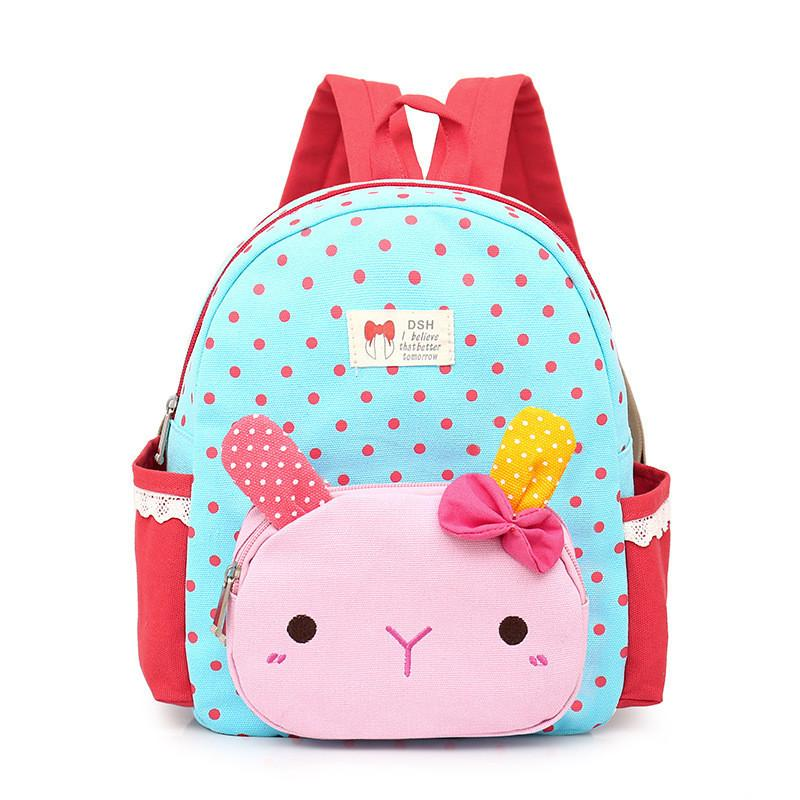 0c05d65cee 2018 Cute Dot Bow Children School Bags Cartoon Rabbit Kindergarten Baby  Backpack High Quality Canvas Girls Student Shoulder Bags Y18100804 Backpack  Usa Back ...