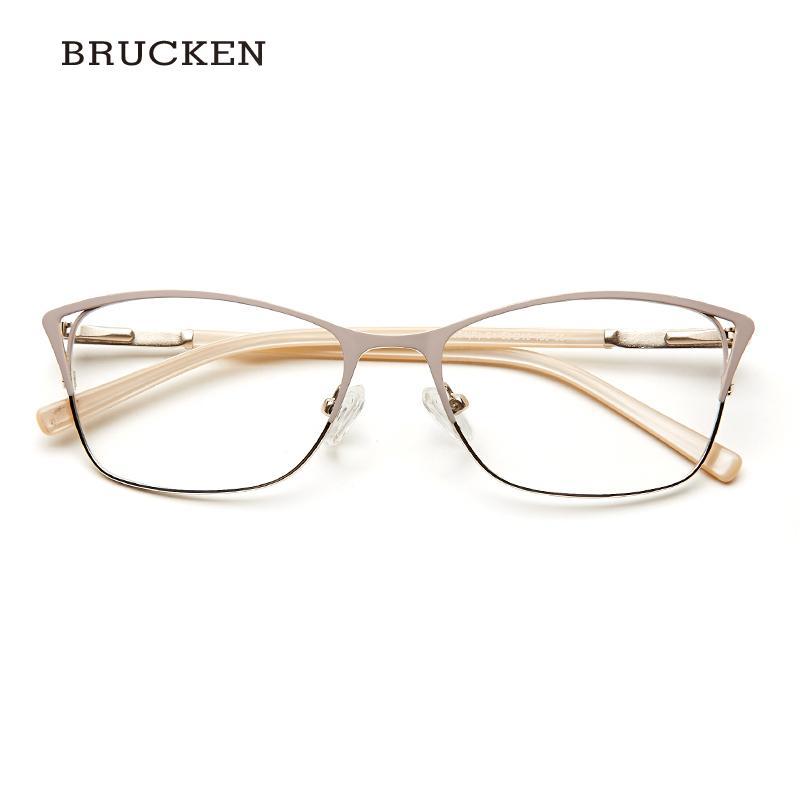 c4cdbca10ba61 Compre Metal Mulheres Olho De Gato Óculos Ópticos Quadro Claro Bonito Moda  Transparente Grau Armacao De Óculos Para As Mulheres   TWM7554C1 De Kwind