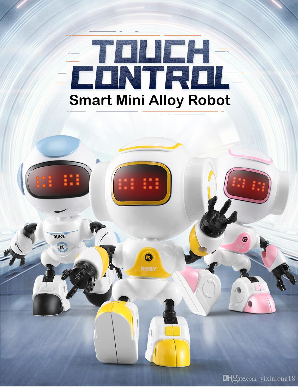 JJRC R8 R9 Smart Mini Alloy Robot Touch Response Robot Voice, Light Effect  ,Used as a phone holder,DIY decoration