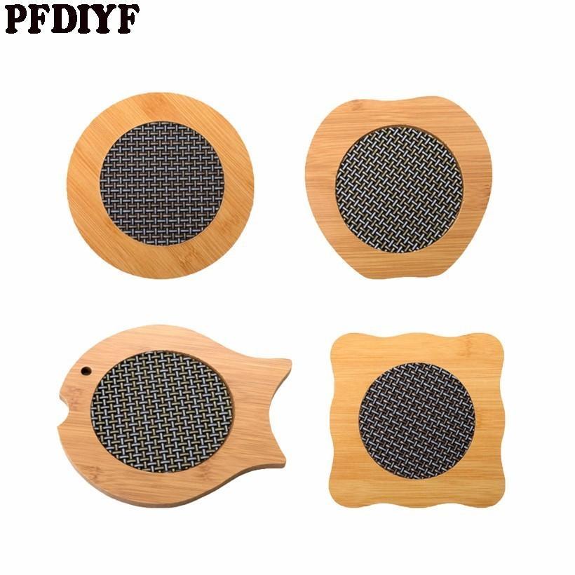 2018 Pfdiyf Cartoon Bamboo Placemat Anti Hot Pad Desk Mat Coaster Heat  Resistant Fish Shaped Apple Shaped Table Mat From Huojuhua, $37.93    Dhgate.Com