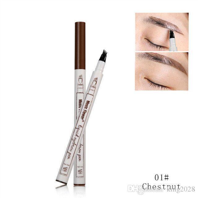 أعلى جودة وشحن مجاني! ميوزيك فلاور قلم حواجب لون ميوزيك فلاور 3 - كستنائي ، بني ، رمادي غامق.