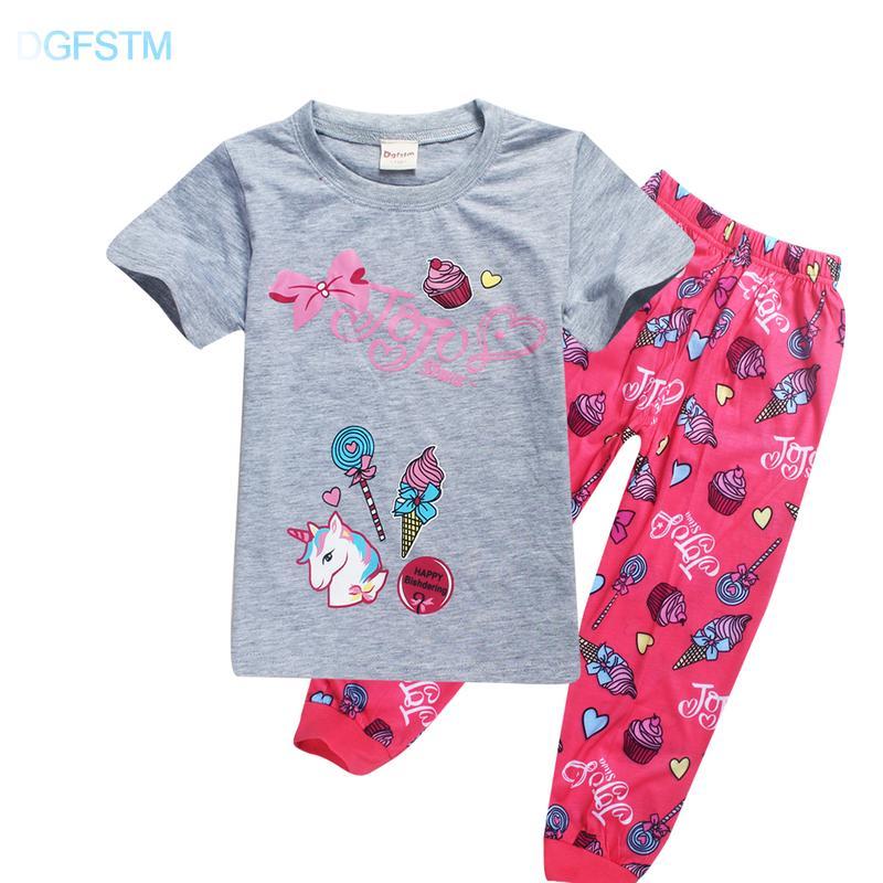 e581adf5de Compre 2018 Pijamas De Unicornio Para Niñas 2018 Niños De Verano Ropa De  Dormir Jojo Siwa Pijama Unicornio Pijamas De Niños Pequeños Niños Ropa A   20.84 Del ...