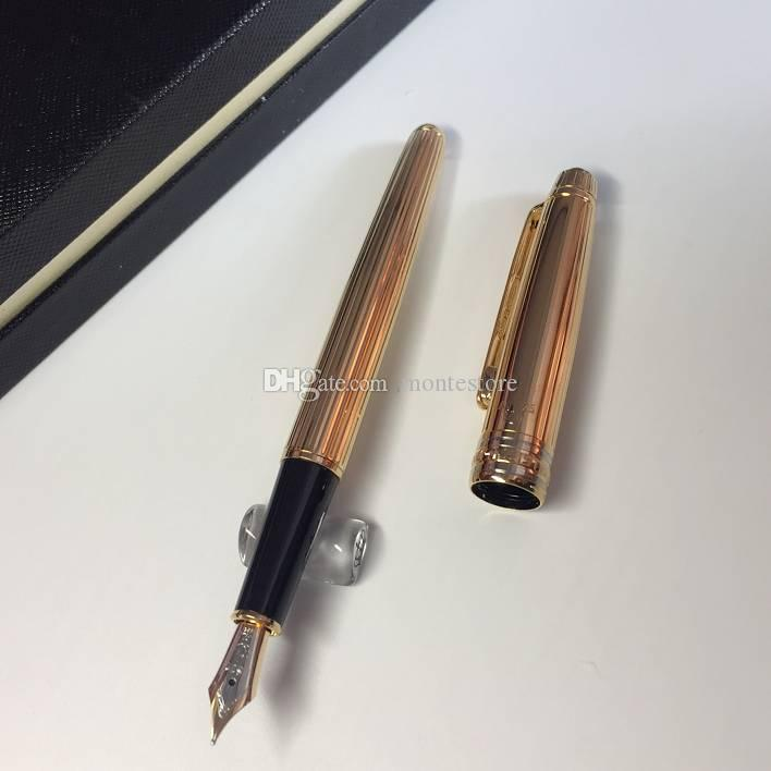 Luxury MT 163 Golden Metal Pen Ag925 Classic Fountain Pen With Stationery  School Office Supplies Writing Smooth MB Brand Ink Pen Gifts MB Brand Mb  Pen 925 ...
