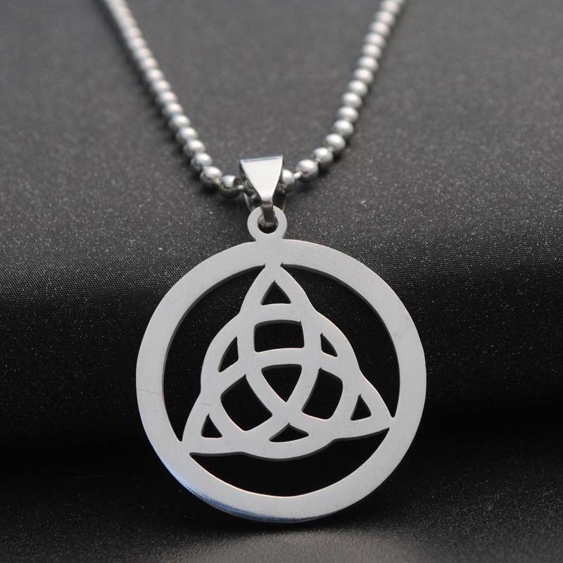 Wholesale triquetra pendant celtic symbol necklace trinity knot wholesale triquetra pendant celtic symbol necklace trinity knot necklace keychain logo triad emblem amulet talisman sign medallion jewellery key necklace mozeypictures