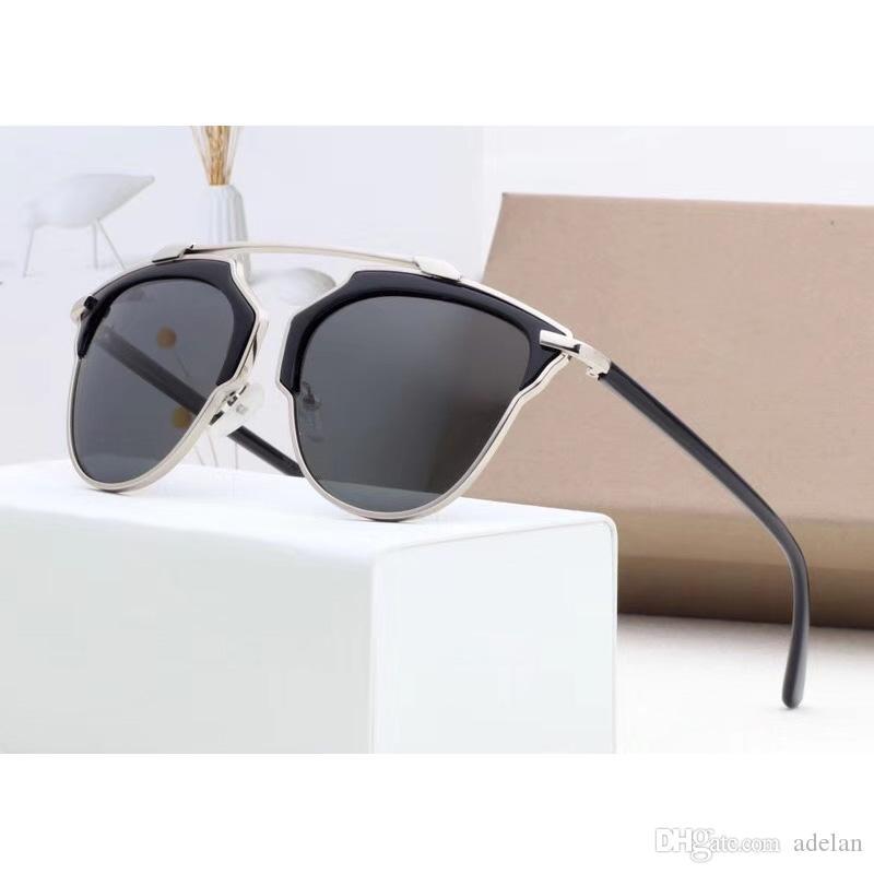 Compre 2018 Moda Óculos De Sol Mulher Retro Luxo Óculos De Sol Da Marca  Designer De Óculos De Sol Para A Mulher Do Vintage Unisex Com Caixa De 6  Cores De ... 861bfde20d