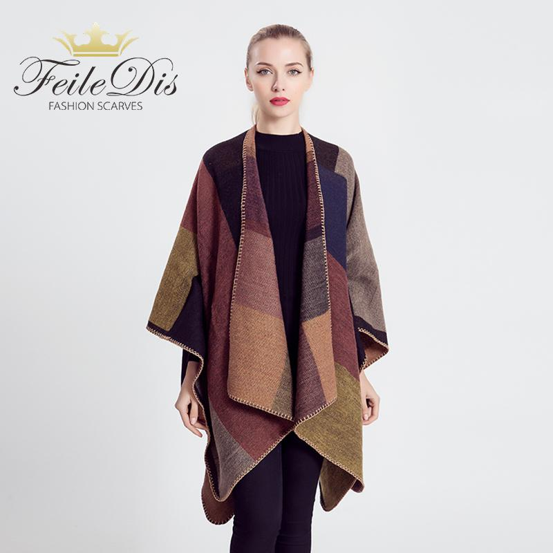 FEILEDIS2018 New Brand Women s Winter Poncho Vintage Blanket Women s Lady  Knit Shawl Cape Cashmere Scarf M1644 Green Scarf Hair Scarf From Kuchairly 9b09e682f1