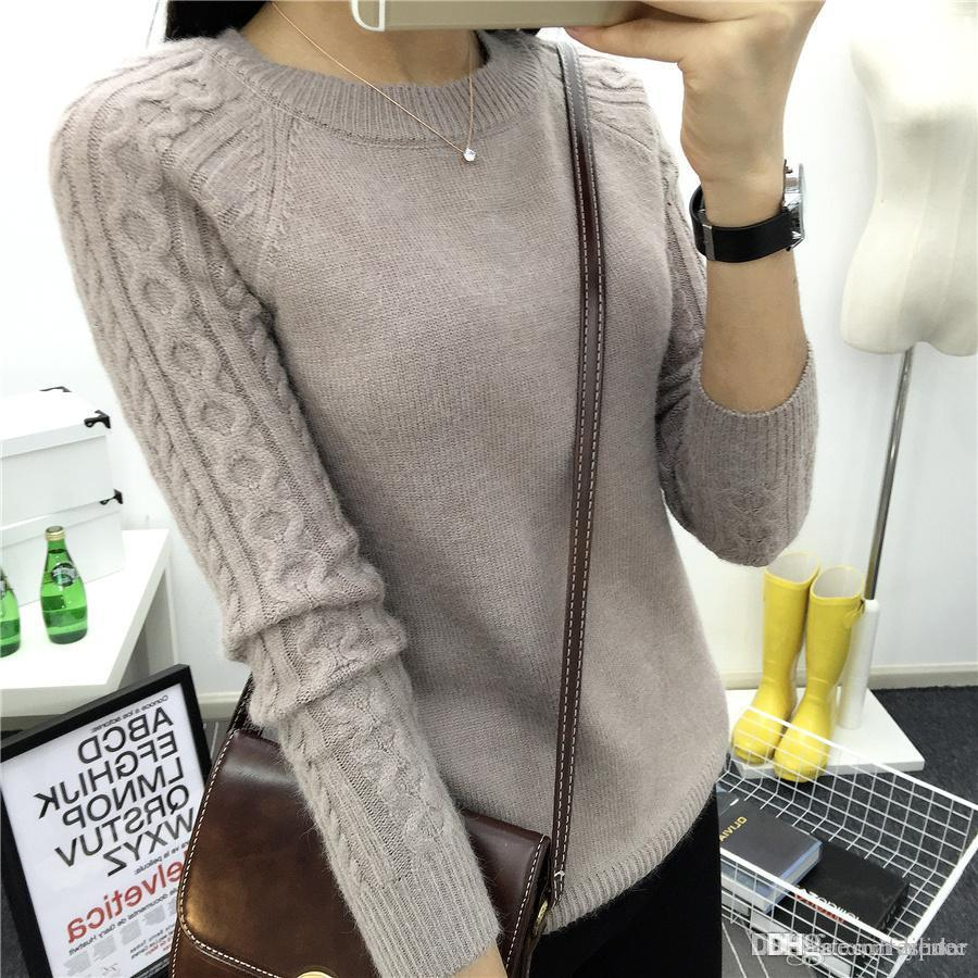 2019 Wholesale O Neck Twisted Flower Sweater Women 2017 Winter Cashmere  Femme Jumpers Long Sleeve Warm Soft Women Sweaters And Pullovers From  Lilidar 21b48f759