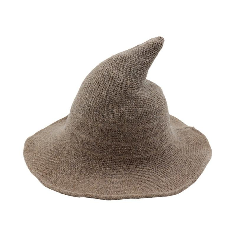 Along The Sheep Wool Cap Knitting Fisherman Hat Qiu Dong Female Fashion  Witch Pointed Basin Bucket Hat Accessories Cowgirl Hats Fishing Hats From  Ylingnei 366754a221c4