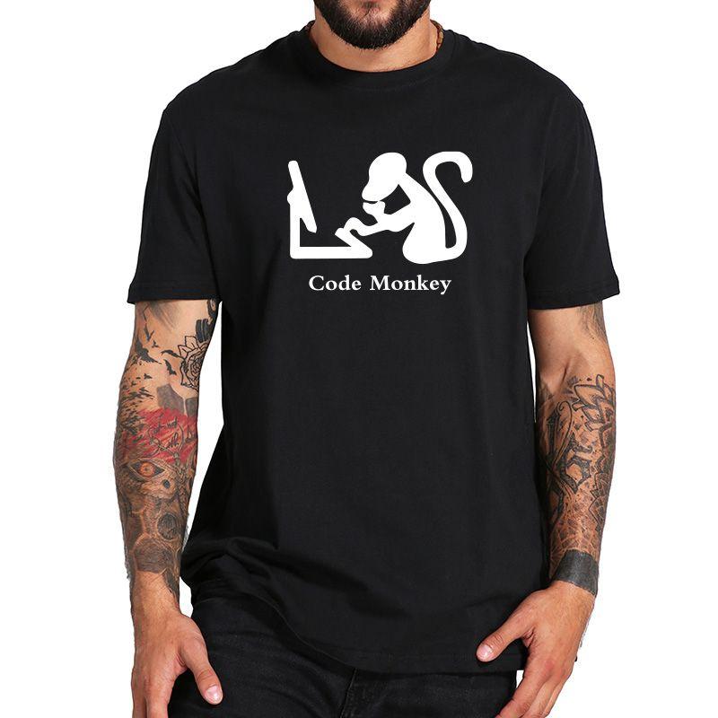 Grosshandel Programmierer Tshirt Lustige Code Affe T Shirt Witz Comic