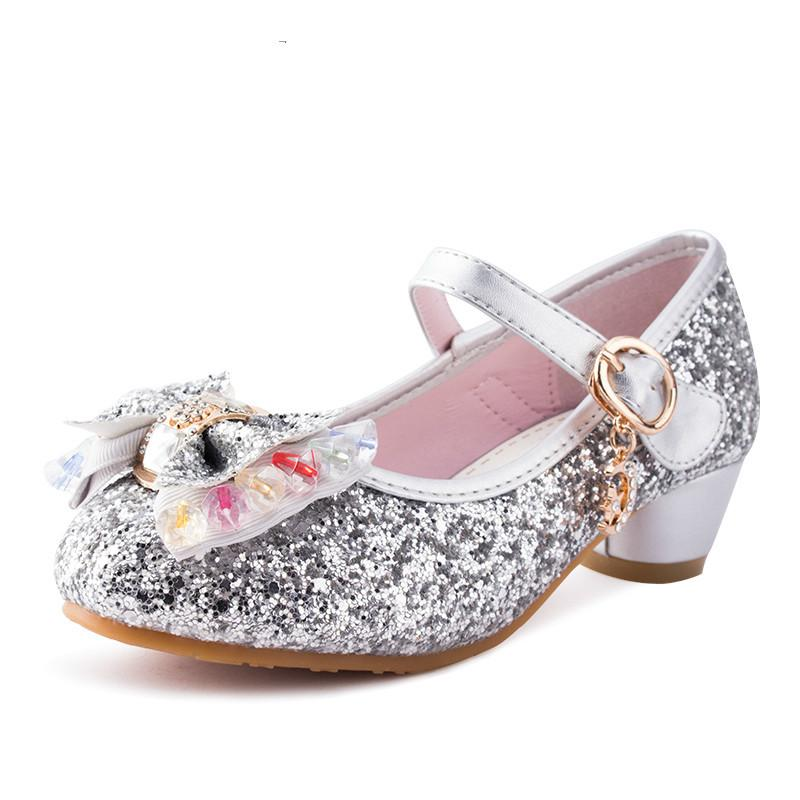 02225d638e952e Spring Summer Kids Children S Shoes Crystal Bow Shiny High Heels Princess  Shoe Hot Sale New Girls Dance Sandals SKU 1122 Cool Kids Sneakers Kids  Casuals ...