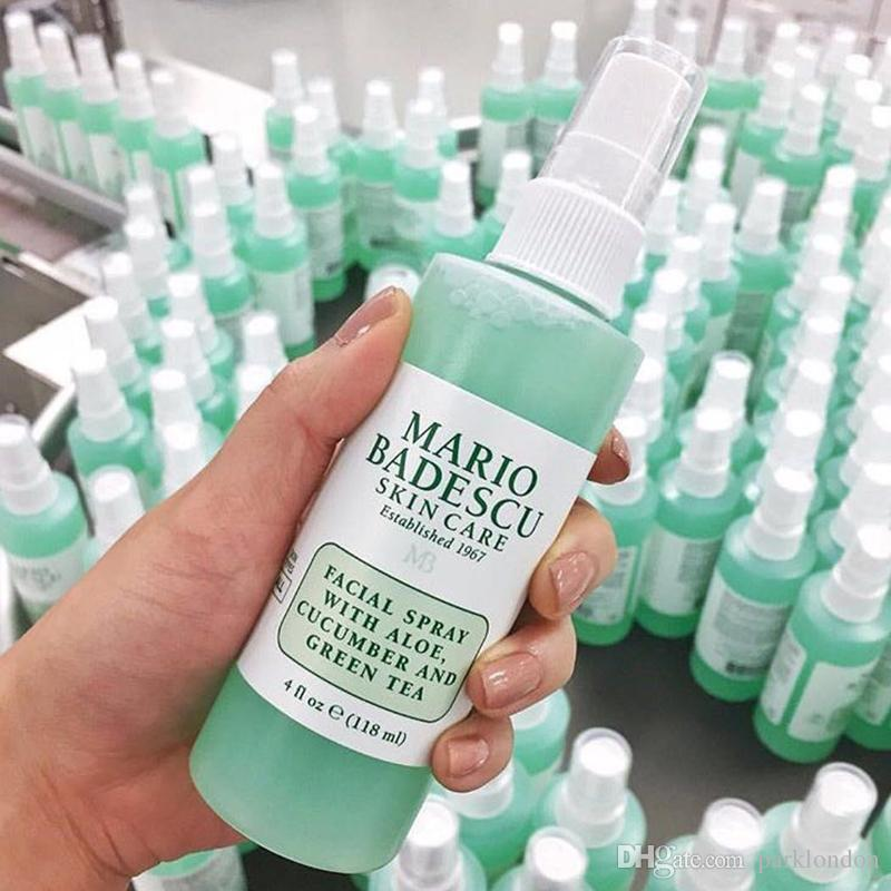 Mario Badescu Cuidado de la piel spray facial con Aloe pepino y té verde Hierbas y la cara Rosewater 118ml Toners DHL