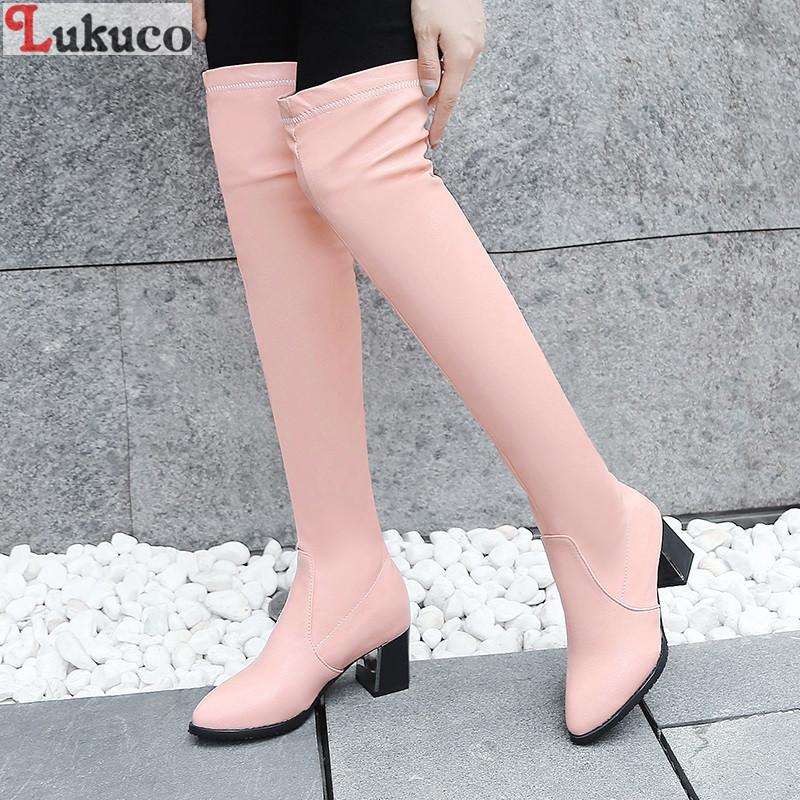 e8cc663b6 2019 Women Botas Pink Boots Short Plush Winter Shoes Large Size 37 38 39 40  41 42 43 High Quality Handmade Footwear Women Pumps Men Boots Red Boots  From ...