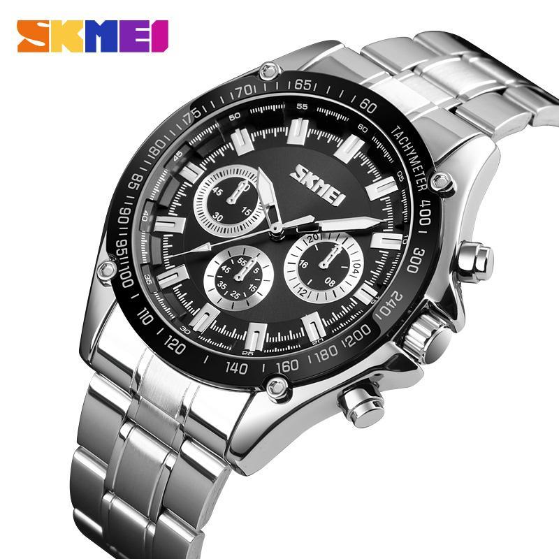 d18119383154 Compre Skmei Relojes Para Hombre De Primeras Marcas De Lujo De Cuarzo Reloj  Deportivo Hombres 30 M Impermeable Hombres De Acero Inoxidable Reloj De  Pulsera ...