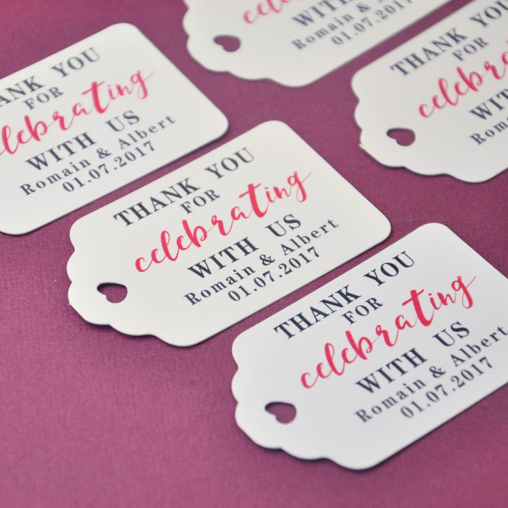 Personalized Gift Tags Thank You Wedding Tag Customized Name And ...