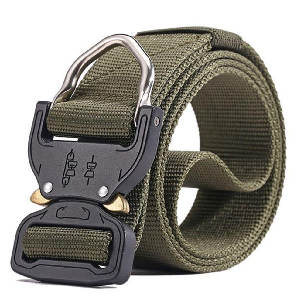Combat Heavy Duty Knock Off Tactical Belt Men US Soldier Equipment Belts Sturdy Hook Nylon Waistband 3.8cm1.5 ''