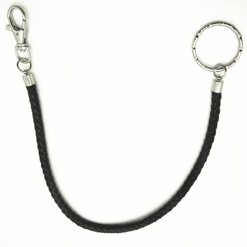 f31f1ef08cb5 38 cm / 45 cm / 60 cm Schwarz / Braun PU Leder Hosen Kette Jeans Keychain  Punk Rock Stil Hosen Taille PU Leder Schlüsselanhänger