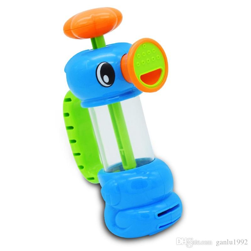 Hippocampus Modeling Pump Faucet Sprinkler Toy Spray Water Bathing Baby Swimming Pool Playing Toys For Kids 7 8yr W
