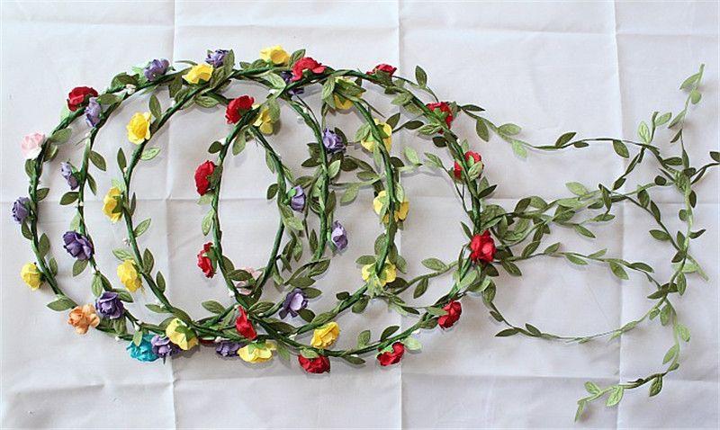 Свадебная свадьба девушка голова цветок корона ротанга гирлянда Гавайи цветок головной венок богемные богемные повязки до 432