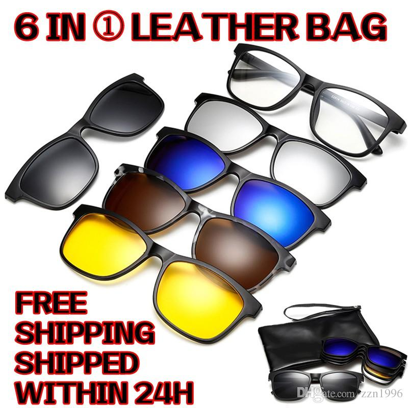 eeea8503db Clip on Magnetic Sunglasses Women men Polarised Magnet Clip Myopia Glasses  Sunglasses Sunglasses Men Clip on Magnetic Sunglasses Online with   12.16 Piece on ...