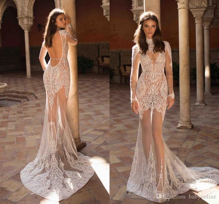 Berta 2019 New Illusion Mermaid Wedding Dresses See