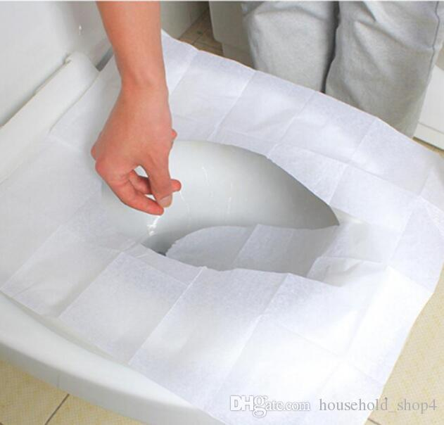 ECO Disposable Toilet Seat Cover Paper Mat Flushable Toilet Paper Pad Portable Closet Seat Pad Travel Camping Hotel Bathroom Accessiories
