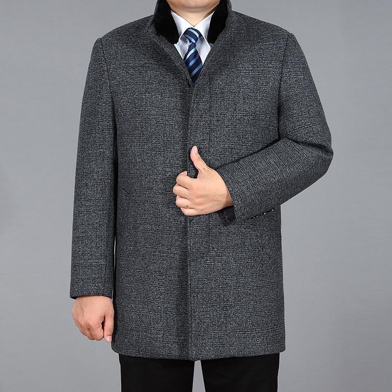 59eb040d8731 Großhandel 2018 Neue Winter Wollmantel Männer Herbst Mode Wollmischung Jacke  Pea Coat Kaninchenfell Männlichen Langen Graben Wollen Jas Heren M 4xl Von  ...