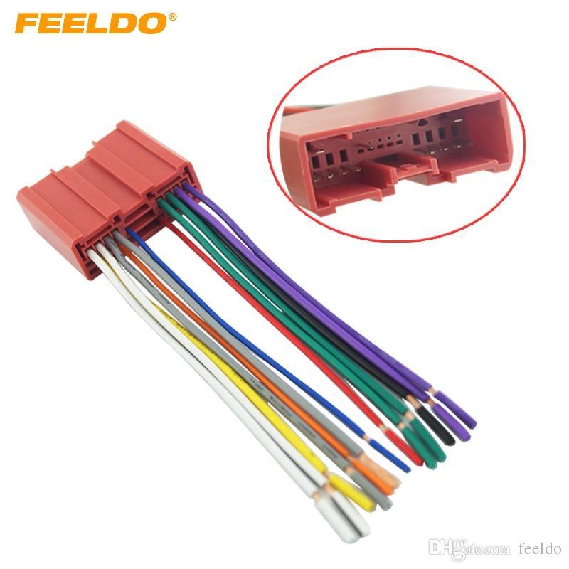 2018 Feeldo Car Radio Cd Player Wiring Harness Audio Stereo Wire Adapter For Mazda Install Aftermarket Cddvd 2953 From 348 Dhgate: Cd Player Wiring Harness At Sewuka.co