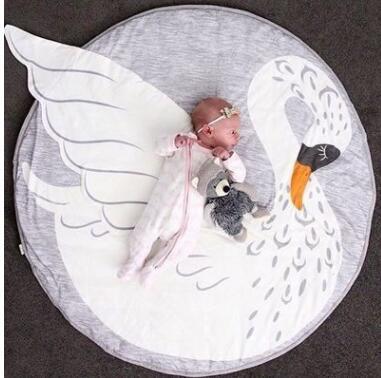 Ins Round Baby Play Mat Nursery Rug Crawling Mat Floor Mats Soft