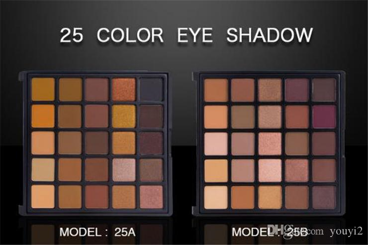 Top Quality ! 2018 Europe and the United States new eye shadow pearl matte color eyeshadow plate 25A 25B EYESHADOW cosmetic Palette