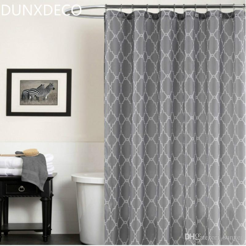 Best Dunxdeco Shower Curtain Waterproof Bath Room Polyester Fabric ...