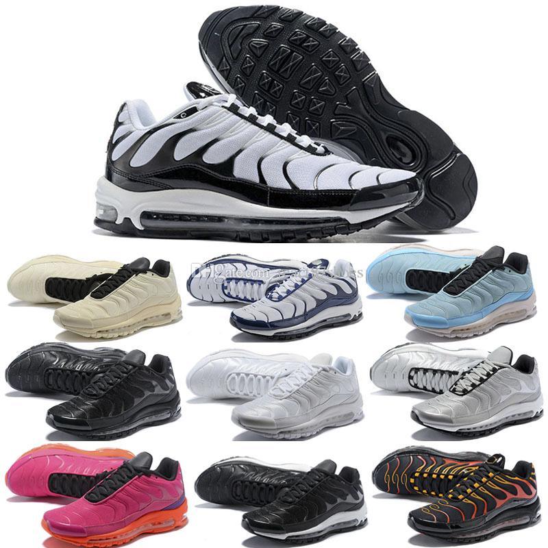 separation shoes 9190f 8c1ff 97 Plus Tn Mix Zapatillas Para Correr Para Hombre TN 97 Mix Zapatillas Para  Exterior Negro Blanco Oscuro Rojo Deportivo 97 Zapatillas Deportivas  Informales ...