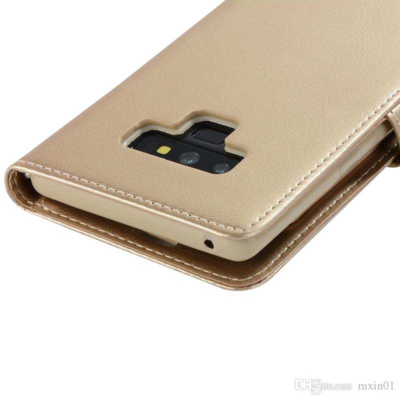Rich Diary Wallet PU Leather Case TPU Cover For iPhone X 8 7 6 6 6S 5 Samsung S9 Plus S8 S7 S6 Edge S5 Note 4 9 Note8 Note9 A5 2017 A8 2018