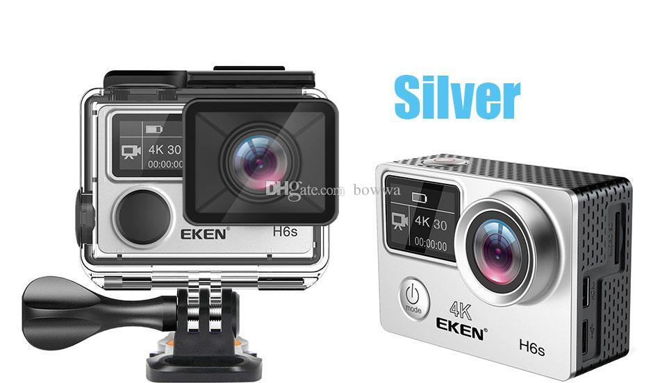 Original EKEN H6S Native 4K Full-Time EIS Ultra HD Action Sports Camera WIFI HDMI Dual screen 170 Wide Angle remote control waterproof DV
