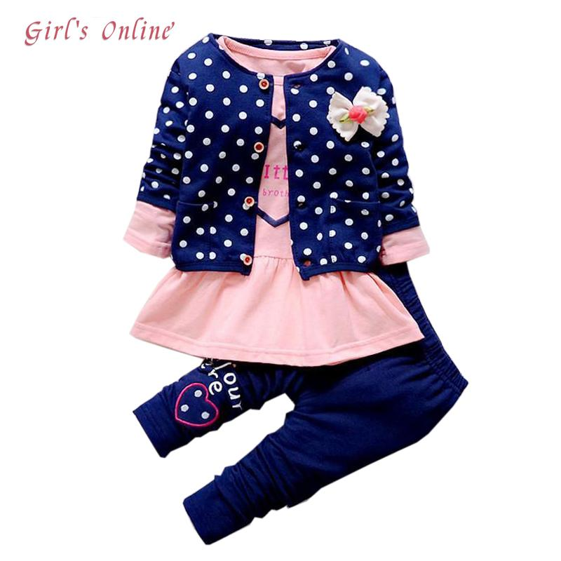 45f81c2d0 2019 Children Clothing Set Spring Autumn Casual Kids Suits For Girl Coats  Shirts Pants Girls Clothes 1 2 3 4 Year Baby Costume Y1892807 From  Shenping01, ...