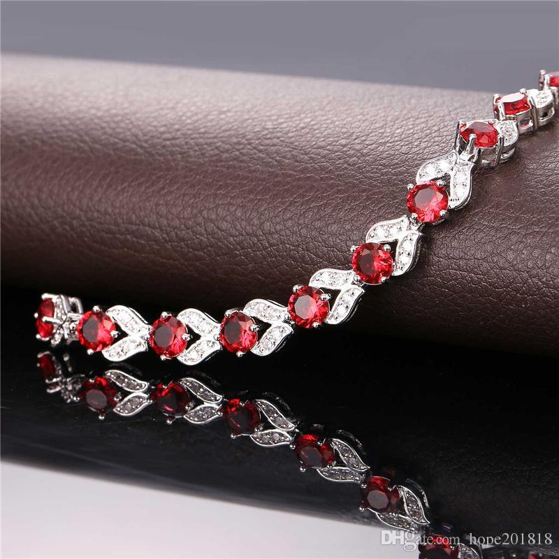 U7 Romantic Charm Bracelet Gold/Platinum Plated Synthetic Emerald Cubic Zirconia Women Fashion Jewelry Perfect Valentines Gift H986
