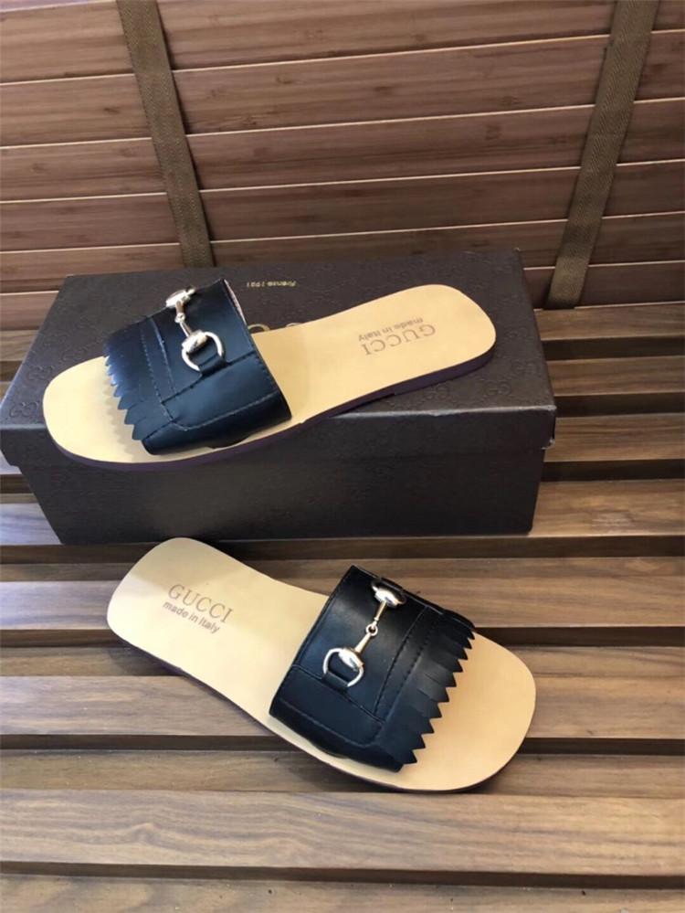 640f3634990c4f 2018 Summer Fashion Designer Designer Leather Slipper Sole Anti ...