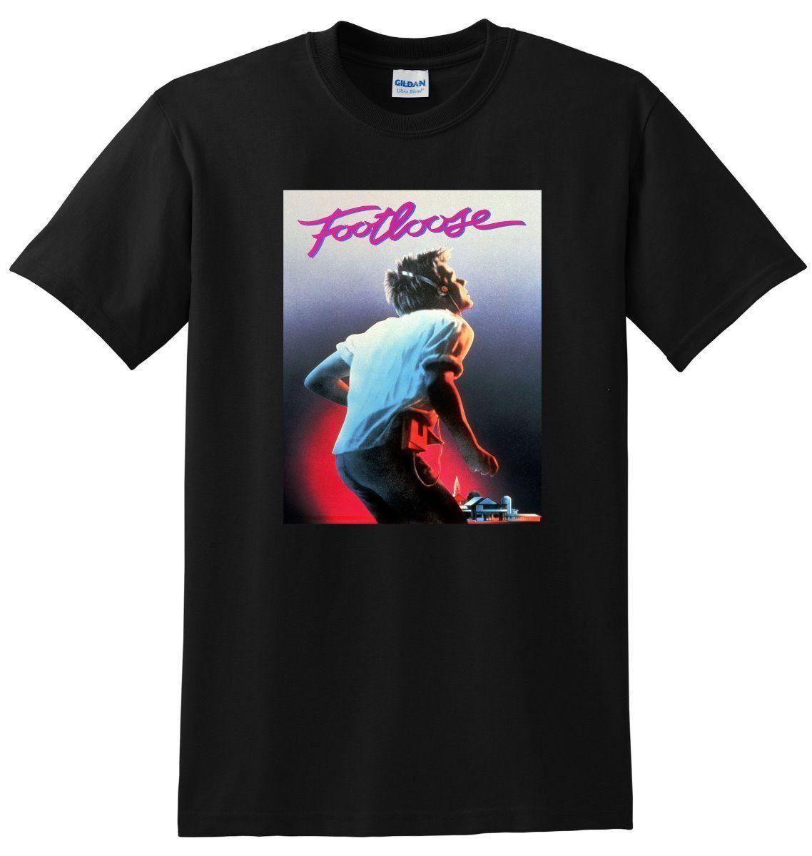 fb4728e9976 FOOTLOOSE T SHIRT Bluray Dvd Poster Tee SMALL MEDIUM LARGE Or XL Tshirt  Designs T Shirt Design Template From Linnan009