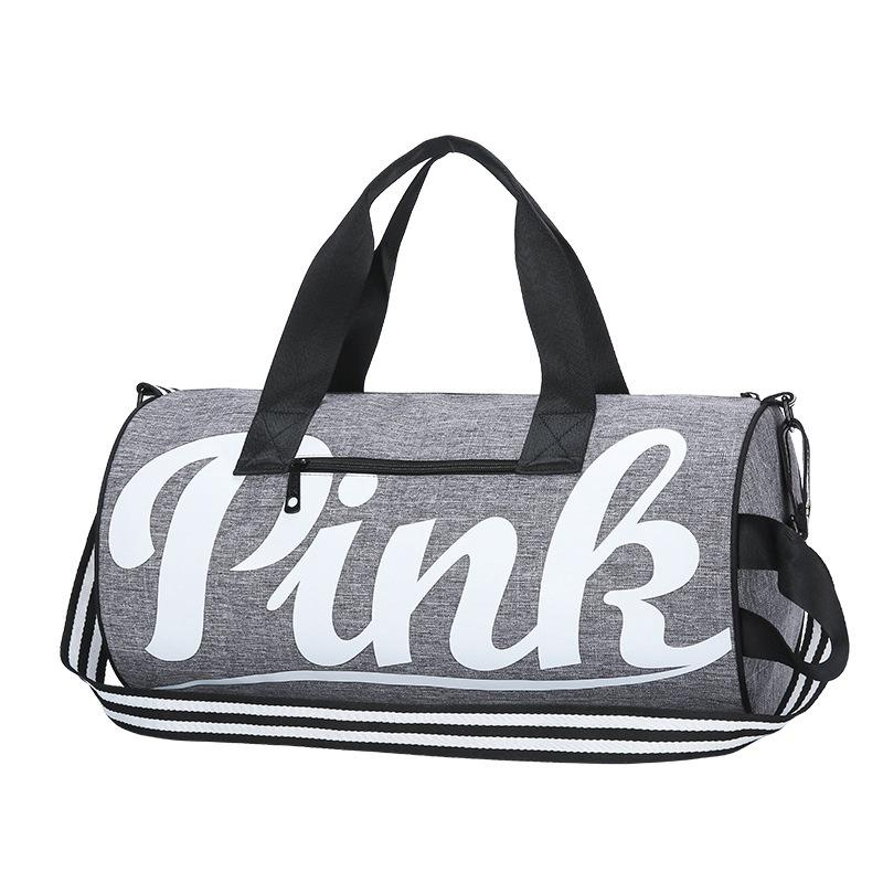 ec07e80792 New PINK Letter Handbags Large Capacity Travel Duffle Shoulder Bags Striped  Waterproof Beach Bag Women Men Handbag High Quality Wholesale Purses White  ...