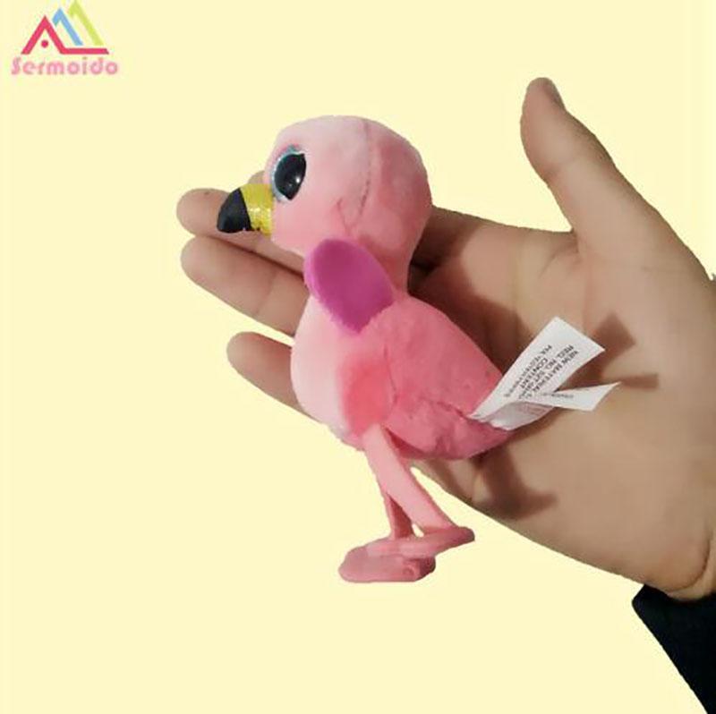2019 Sermoido 3   TY Beanie Boos GILDA Pink Flamingo Clip Key Chain Plush  Big Eyes Plush Toy Doll Baby Kids Gift D30 From Luckyno 89afcdd8093