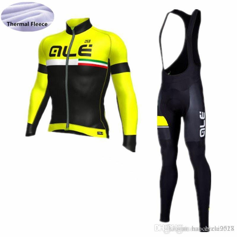 ALE Brand Hombres Bicicleta Ciclismo Jersey De Invierno Cálido Fleece  Desgaste Camisa Babero Pantalones Deportes Al Aire Libre Ropa Transpirable  Ciclismo ... 60b26feddfe20