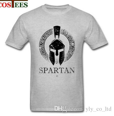spartan maglietta  Casual Tshirt Spartan T Shirts Custom Short Sleeve T Shirt Men Hip ...