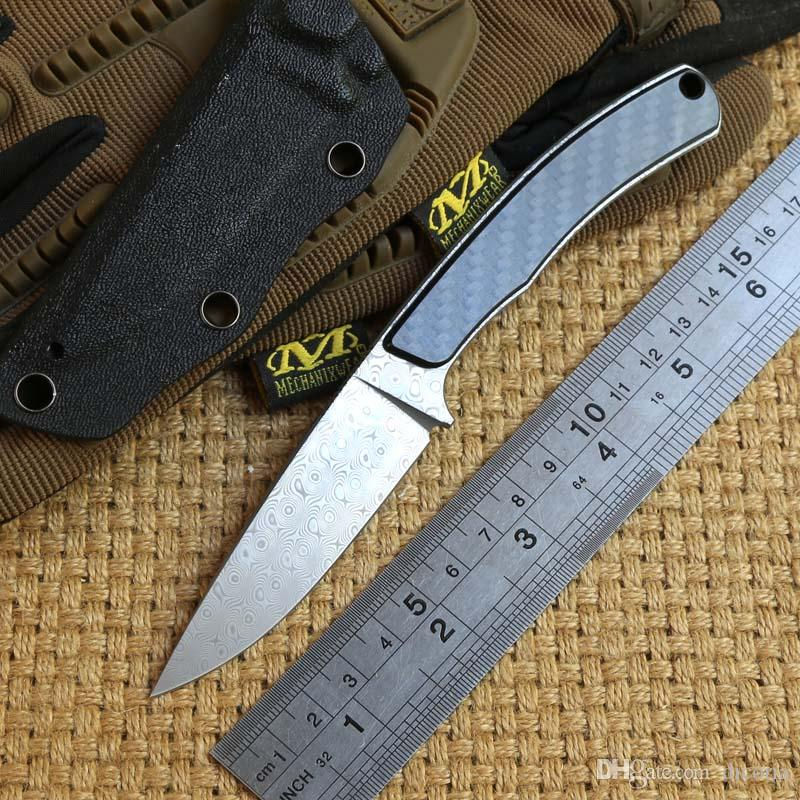 mg original fixed blade tactical knife damascus blade hunting