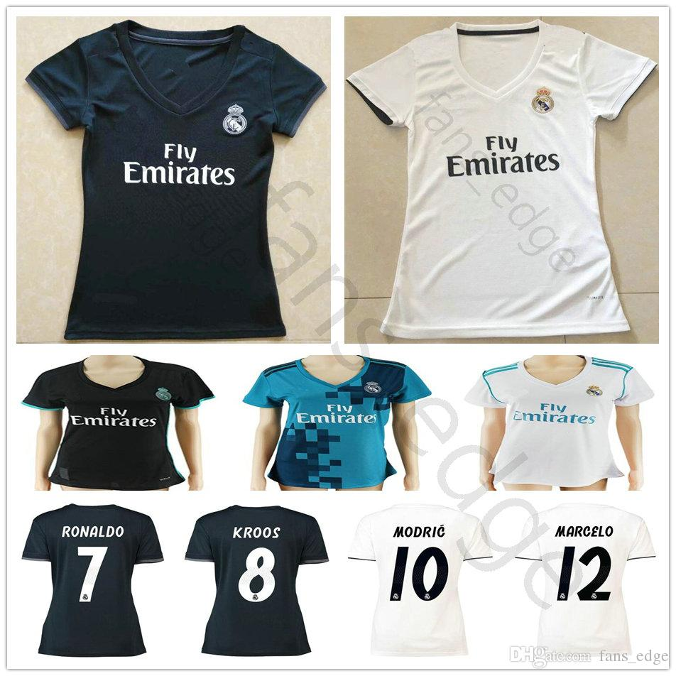 78fd60d55 2019 Women Real Madrid Soccer Jerseys Sergio Ramos Ronaldo Kroos Benzema  Bale Modric Marcelo Isco Custom Men Kids Youth 2018 2019 Football Shirt  From ...