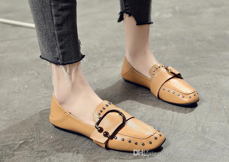 845757e62a608 2018 New Korean Version of the Wild British Wind Women s Shoes ...