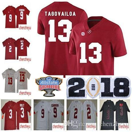 3b41c9124 2018 NCAA Championship Jersey Alabama Crimson Tide  13 Tua ...
