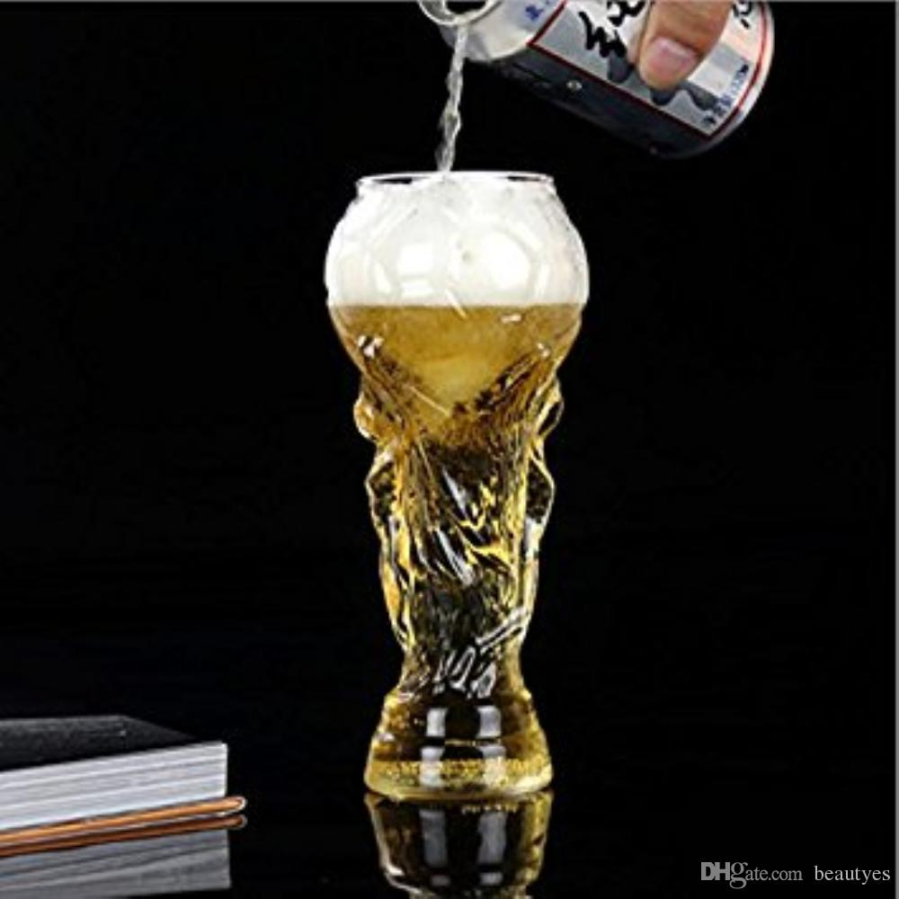 Creative Beer Mug Unique Design Crystal Cup Boots Design Beer Glass Cocktail Cup Club Stein Football Russia World Cup