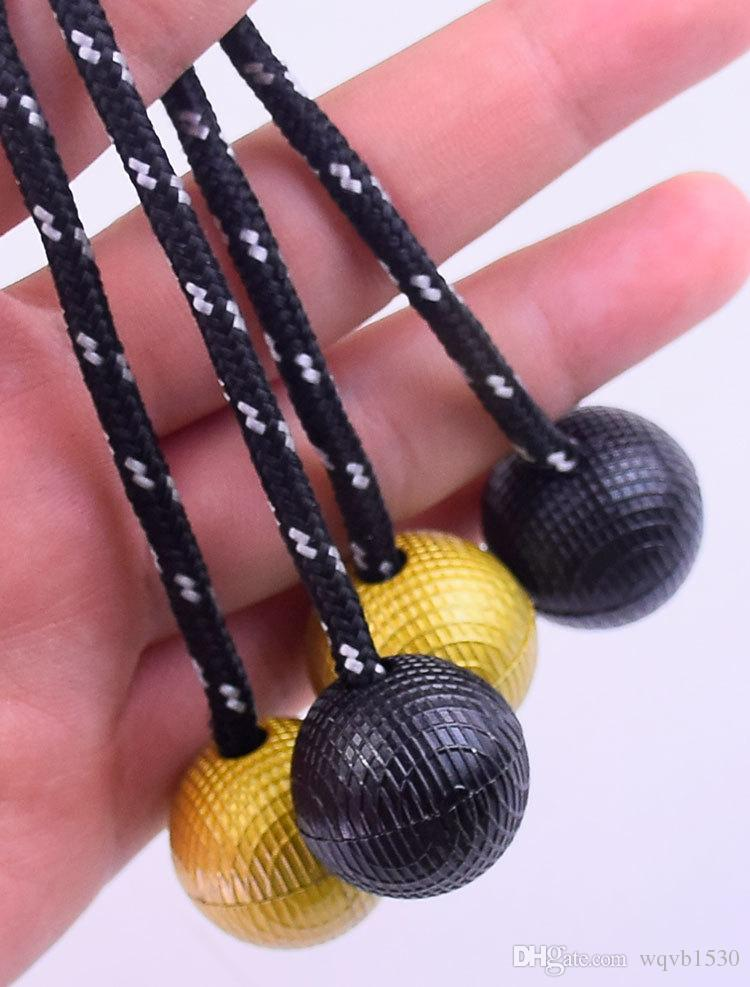 50pcs/lot Decompression artifact alloy finger tips finger yoyo ball dhl free