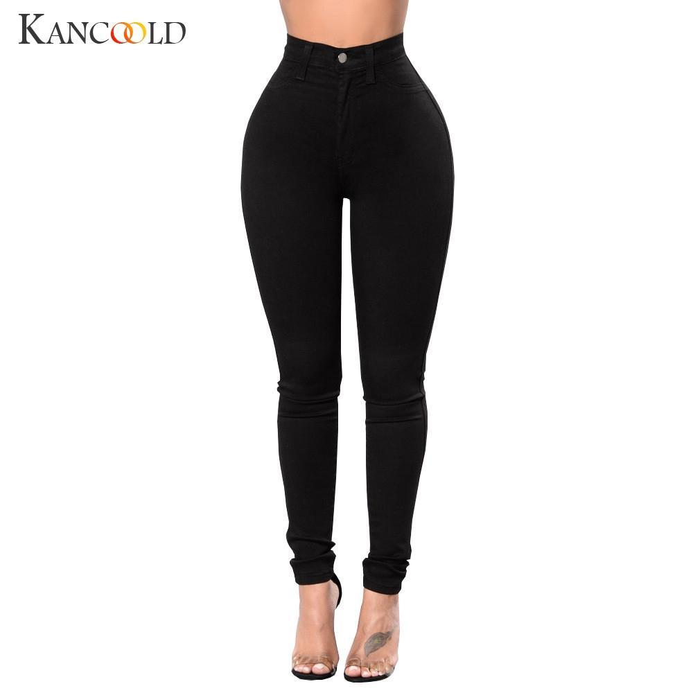 Grosshandel Kancoold Jeans Frauen Hohe Taille Stretch Schlauch Mode